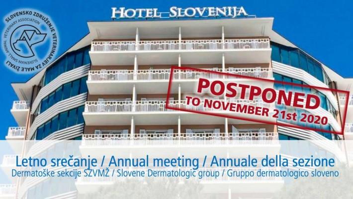 Letno srečanje Dermatološke sekcije prestavljeno na 21.11.2020
