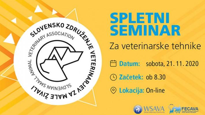 Spletni seminar za veterinarske tehnike